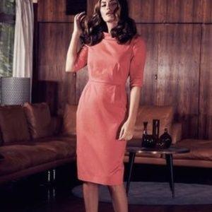 Boden Coral Wardour Collared Dress